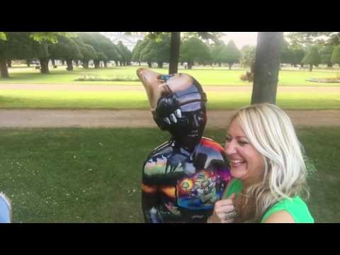 Gnomes Unearthed Home Park Garden - The little Gentleman in Black Velvet