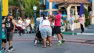 Disneyland Fight Breaks Out! What Would You Do?