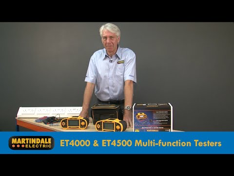 Martindale ET4000 ET4500 Multifunction 17th Edition Installation Testers