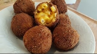Fried Mac and Cheese balls with Bacon