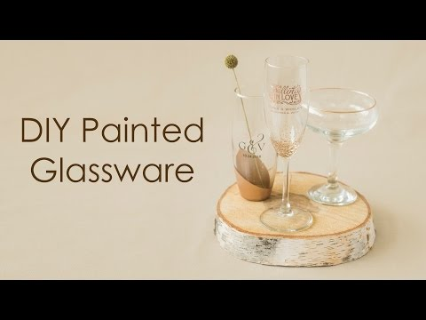 How-to create elegant painted glassware