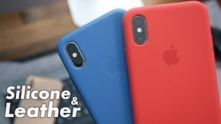 iPhone XS Silicone & Leather Cases Hands On & Impressions