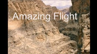 Chopper Flying  over the  Grand canyon & Relaxing Guitar music mix 2019