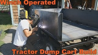 Winch Powered Dump Trailer Build for Lawn and Garden Tractors