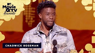 Chadwick Boseman Accepts The Award for Best Performance in a Movie   2018 MTV Movie & TV Awards