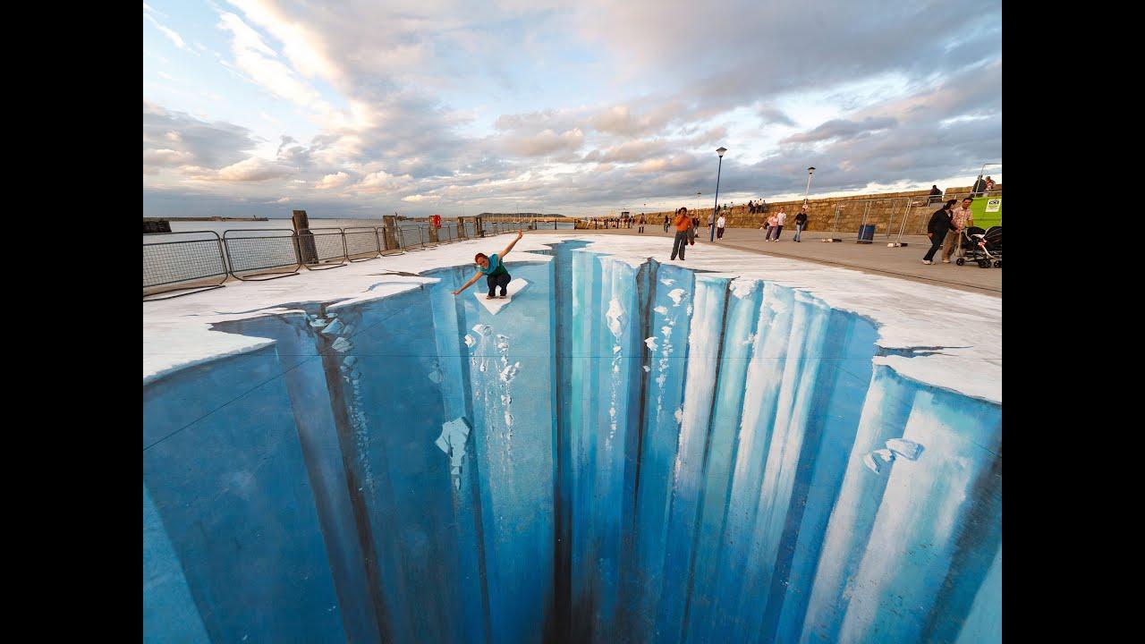 The Crevasse Making Of 3d Street Art Youtube
