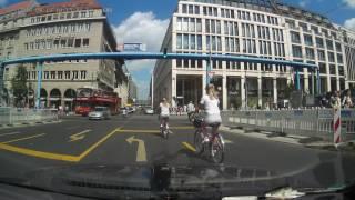 Driving through Berlin