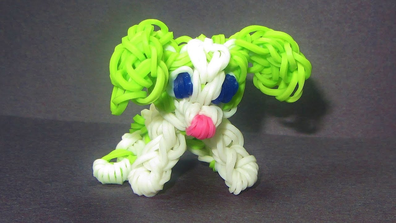 Rainbow Loom Charm Dog Puppy How To Make Loom Bands Dog