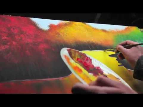 Acrylique Painting Landscape Demonstration - Lac by John Beckley