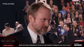 Director Rian Johnson interview - Star Wars The Last Jedi Red Carpet World Premiere