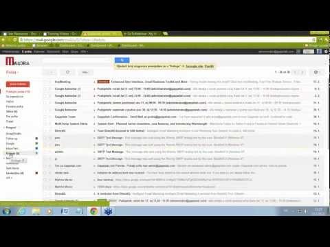 Google Apps - Primjena oznaka povlačenjem u Gmailu