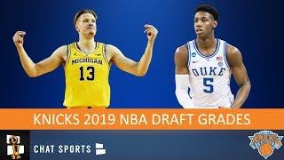 Knicks Draft Grades From The 2019 NBA Draft On R.J. Barrett And Ignas Brazdeikis