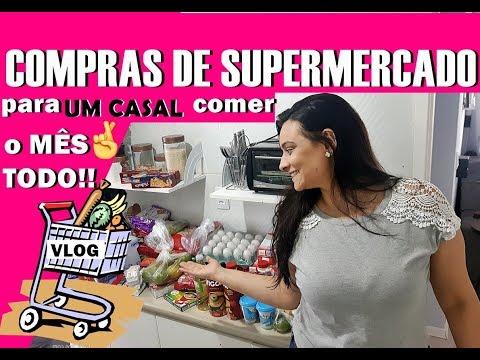 COMPRAS SUPERMERCADO PARA UM CASAL | COMPRAS DO MÊS TODO PARA UM CASAL