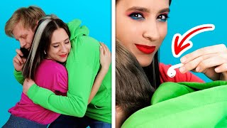 TOP SECRET SPY HACKS FOR COUPLE || Cool Pranks And Funny Situations In Every Relationships