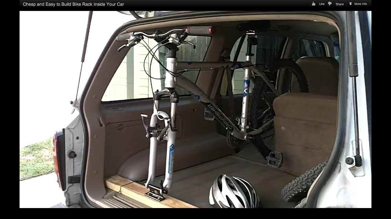 Cheap And Easy To Build Bike Rack Inside Your Car Youtube