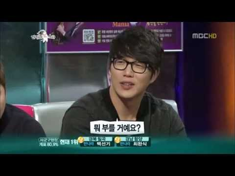 [cut] 111026 Kyuhyun imitated Sung Sikyung and sang 난 좋아 (Even Now)