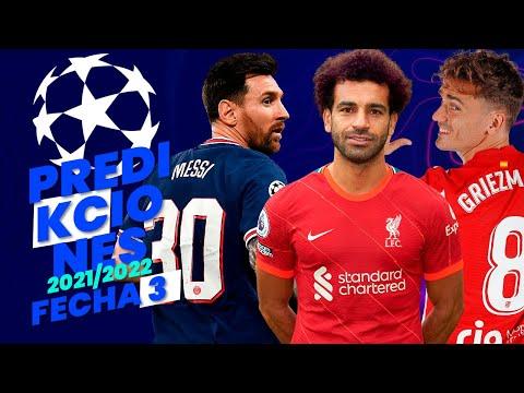 PREDICCIONES UEFA CHAMPIONS LEAGUE 2021/22   Jornada 3
