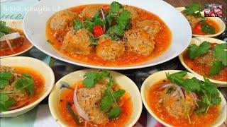 Xíu Mại - Cách làm món Thịt viên Xíu Mại sốt Cà chua theo kiểu cổ truyền by Vanh Khuyen