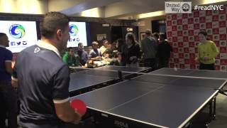 New York Cosmos ping pong pranked by Estee Ackerman