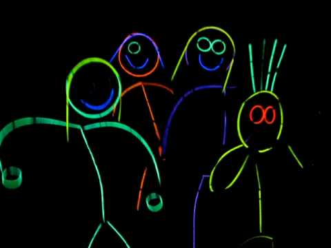 Halloween 2009 New And Improved Glow Stick People Youtube