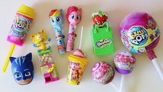 Toy candy dispensers Pikmi Pops ice cream lollipop surprise Shopkins My Little Pony PJ Masks
