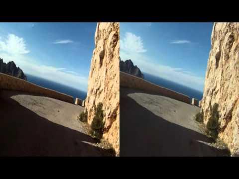 3D SBS Majorque / Mallorca 2014-03-24 Talaia d'Albercutx (Cap de Formentor) - 8m06s Scare