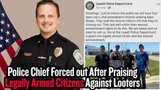 Police Chief Forced out After Praising Legally Armed Citizens Against Looters
