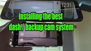 How to install Auto-Vox Dash cam & Wiring a Backup Camera Rear view DVR Mirror