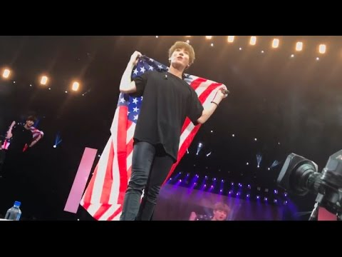 170323 JUNGKOOK TAKING MY FLAG WINGS TOUR NEWARK