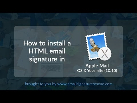 How to install a signature in Apple Mail OS X Yosemite (10.10)