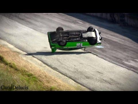 Rollover Crash - RallyLegend 2014