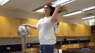 Van de Graaff generator in Mr. Bartlett's physics class