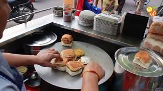 Street Food Mumbai - Under $1 Vada Pav - Indian Street Food - Street Food 2016