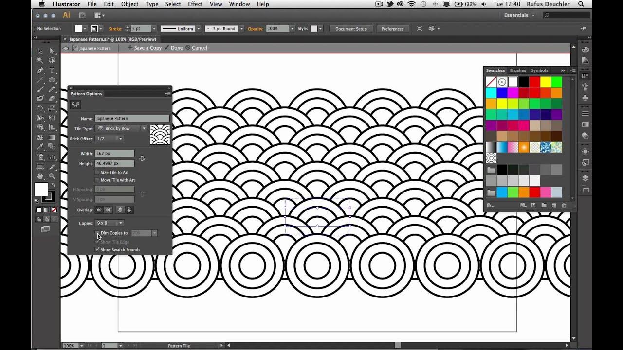 Create a Japanese Pattern with Adobe Illustrator CS6 - YouTube
