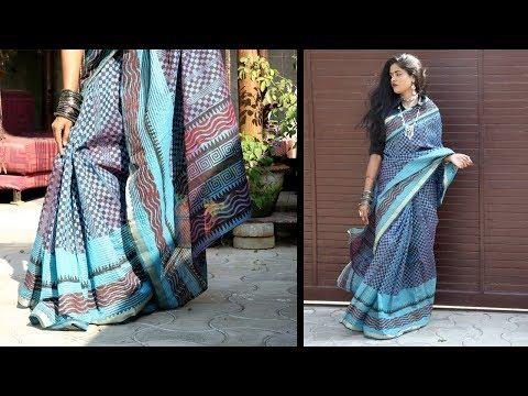 UNNATI SILKS - Chanderi Sico Saree Review