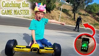 Game Master Found on Top Secret Spy Gadget! Chase on World's Fastest Hoverboard!