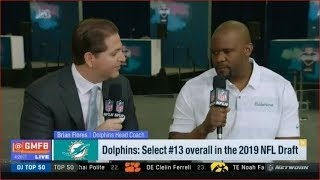 Brian Flores on Dolphins: Select #13 overall in the 2019 NFL Draft