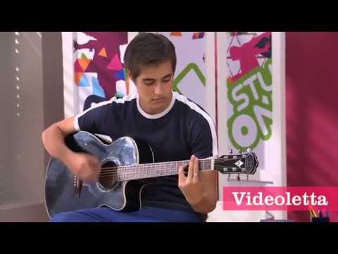 Violetta 2 English - Leon and Vilu practice choreography Ep.67