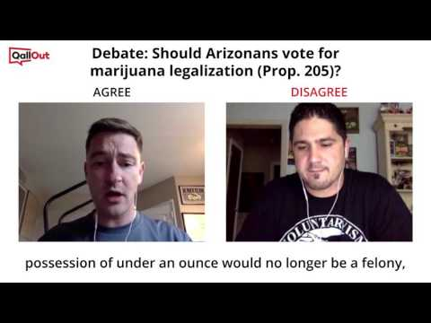 Libertarian Party Chairman debates Arizona's marijuana legalization on QallOut.com