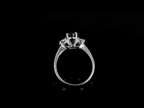 Browns Family Jewellers 18 Carat White Gold Sapphire And Diamond Ring