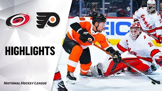 NHL Highlights | Hurricanes @ Flyers 3/5/20