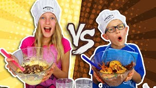 VANILLA vs. CHOCOLATE CAKE CHALLENGE!