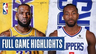 LAKERS at CLIPPERS | Kawhi Drops 30 In Clippers Debut | Oct. 22, 2019