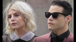Rami Malek & Lucy Boynton @ Paris 6 march 2018 Fashion Week show Miu Miu #PFW mars