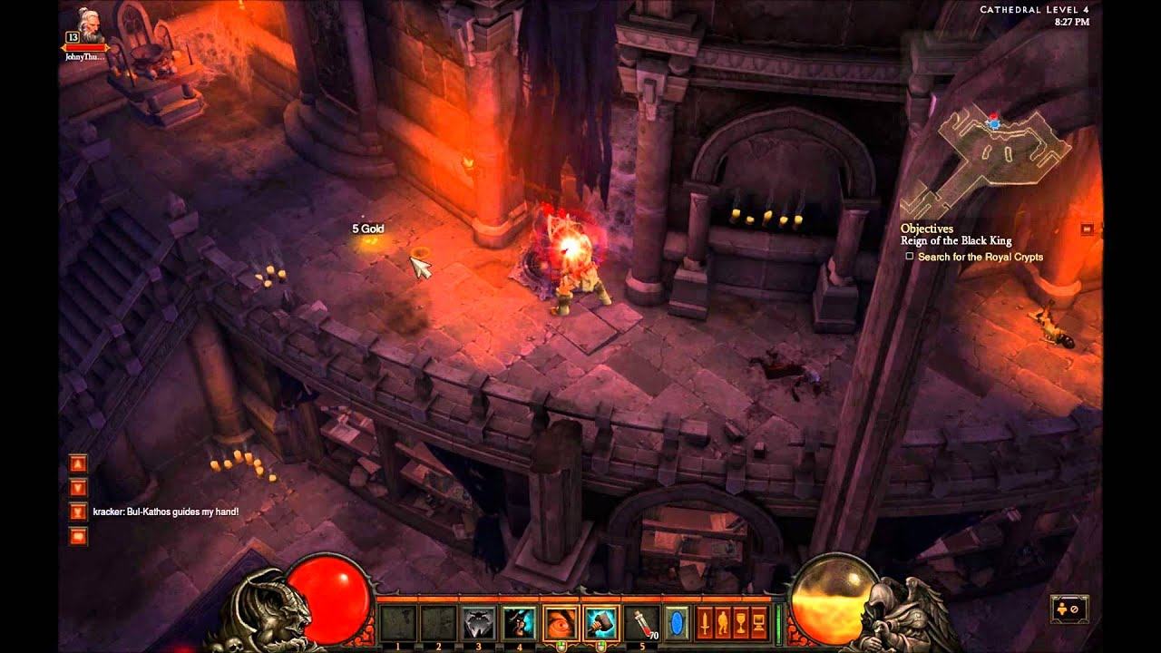 Diablo 3 - Max Level (Beta) Barbarian - 15 Minute Gameplay + Boss Fight - YouTube