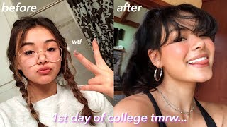 forcing a GLOW UP the day before college (FAST transformation)