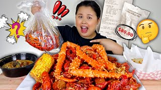 SEAFOOD BOIL MUKBANG 먹방 EATING SHOW | LETTING THE EMPLOYEE DECIDE WHAT I EAT! (KING CRAB LEGS)