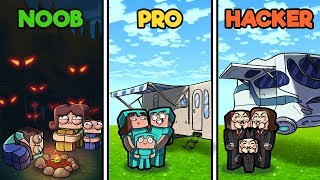 Minecraft - FAMILY CAMPING TRIP! (NOOB vs PRO vs HACKER)