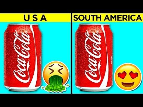 Coca-Cola, Fanta - продукти кои имаат различен вкус во различни држави