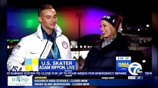 Adam Rippon Answers The Question Would You Meet With VP Pence?   GMA